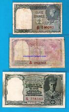 British India Red Serial Issue KGVI Re 1, Rs 2 , Rs 5 - RARE - Choose Your Note