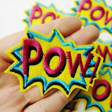 POW! Comic Caption, Cartoon Pop Art Patch Iron-On/Sew-On Embroidered Applique