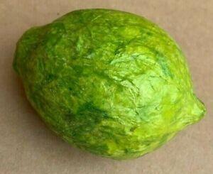 1 Green Lime Artificial Fruit Paper Mache Hollow Decorative Fruit
