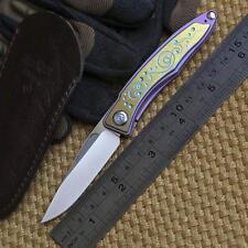 Mnandi Snake Wood best clone titanium handle bearing insde  M390 blade knife