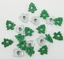 Scrapbooking Embellishments Christmas Tree Eyelets Green Holiday Lot of 20 Craft
