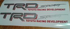 TRD sport, toyota tacoma tundra truck decal Sticker gray and red (set)