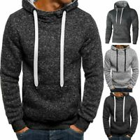 Men's Winter Hoodie Warm Hooded Sweatshirt Sweater Coat Jacket Outwear Warm