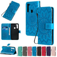Sunflowers Wallet Leather Flip Case Cover For Motorola Moto G8 Power G8 Play E6S