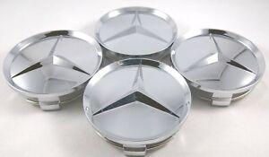 4X Mercedes Benz Center Caps Chrome Mirror 3 Inch/75mm Fit Model C E S (BC75)