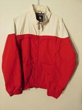 V7635 Burton Red/White Zip Up Biolite Nylon Snowboard Jacket Men's L