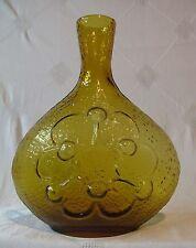 """Art Glass Bottle Vase PeeDee Italy Antiqua Wayne Husted Blenko 10 3/4"""""""