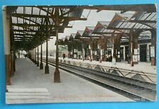 More details for valentines series postcard posted 1910 the railway station bedford bedfordshire