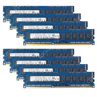 Hynix 64GB KIT 8X8GB PC3L-12800E DDR3-1600Mhz 1.35V 240Pin ECC Unbuffered Memory