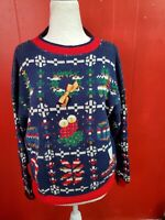 Sweater Loft Women's Medium Warm Ugly Crewneck Christmas Sweater