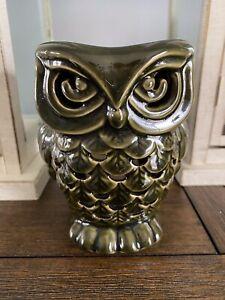 Bath & Body Works Fragrance Oil Wax Melt Tart Warmer Ceramic Green Owl