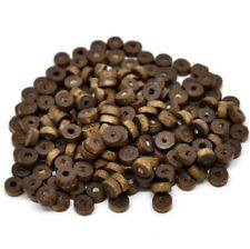 8mm Coffee Rondelle Wood Spacer Beads Round Wooden Hole Making Crafts Brown UK