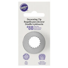 Wilton #8B Open Star Icing Nozzle Decorating Tip for Piping Buttercream Stars