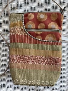 MARUCA HAND MADE IN COLORADO CROSS BODY BAG PURSE WITH ZIPPERED POCKETS PREOWNED
