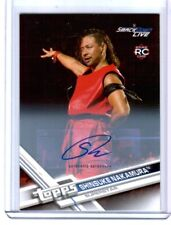 WWE Shinsuke Nakamura 2017 Topps Then Now Forever Authentic Autograph Card 62/99
