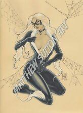 Black Cat Felicia Hardy Print Marvel Comics Original Art by Matthew Sutton
