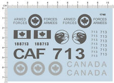 Detail Up CAF Canadian Air armed Force canada 713 Fighter Marking Model Decal