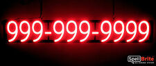 SpellBrite Ultra-Bright 10 DIGIT PHONE NUMBER SIGN Neon-LED Sign (Neon look