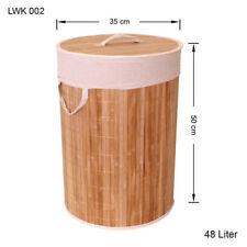bambou Panier à Linge Boîte à vêtements Coffre à Linge Sac à vêtements lwk002