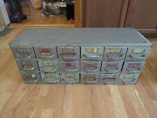 Vintage Equipto Tool 18 Drawer Metal Storage Cabinet