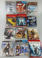 12x PS3 Playstation 3 Games Lot - CoD Assassins Batman Uncharted NBA2k12 Dead Is