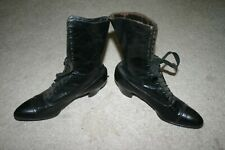Antique Victorian Ladies Leather High Top Shoes Boots-Nice!