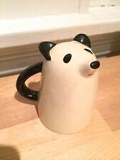 Unique Figural Panda Coffee Mug - Panda is Upside Down Mug Shape!