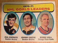 1971-72 Topps #1 Phil Esposito Bobby Hull Hockey Card EX Condition Boston Bruins