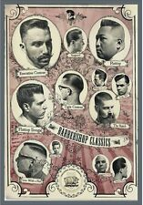 "TARGA VINTAGE ""1960 HAIR CUTS BARBER SHOP"" Pubblicità, ADVERTISING, POSTER,PLATE"