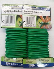 2 pack (2×14FT) Garden Soft Twist ties Strong Plant Tie Wire