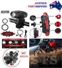 Dianteiro E Traseiro Tail Light Conjunto Recarregável por USB Led Impermeável ciclo de Mountain Bike