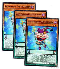 Set 3X ARTISTAMICO CARTERAGAZZA BOSH-IT007 Pendulum Comune in Italiano YUGIOH