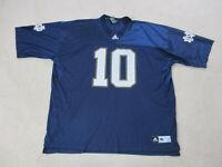 Adidas Notre Dame Fighting Irish Football Jersey Adult 3XL XXXL Blue White Mens