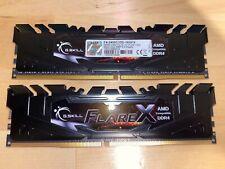 16GB 2x8GB G.Skill Flare X DDR4 2400MHz PC4-19200 for AMD Ryzen CL15 Dual Kit