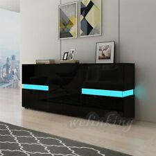 Sideboard Anrichte Küchenschrank Wohnzimmer Kommode Hochglanz LED Beleuchtung