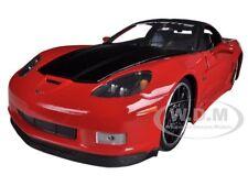 2006 CHEVROLET CORVETTE Z06 RED 1/24 DIECAST CAR MODEL  BY JADA 96804