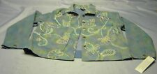 NAPA VALLEY Denim  ladies Jacket Size Petite (14-16) Embroidered Daisies