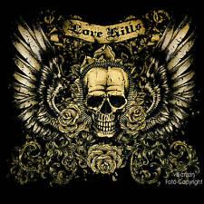 Gothic Tattoo Skull Rockabilly  Biker T-Shirt *4206 bl