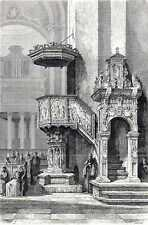 Antique print Trierer Dom Trier Cathedral Peter 1869 holzstich