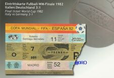 Fußball Weltmeisterschaft 1982 + WM Final Ticket + Orig. Repro Postkarten Serie