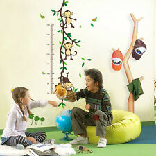 NUOVO Little SCIMMIE Kids Misura Altezza Adesivi Da Parete Ragazzo Ragazza grafico di crescita