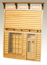 EUREKA STORE FRONT ONLY O On30 ModelRailroad Structure Unptd Laser Kit  DF327