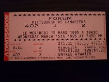 Pittsburgh vs Montreal Canadiens  Ticket March 15 1995 Montreal Forum