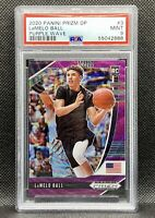🔥2020-21 Panini Prizm DP Lamelo Ball #3 Purple🟪Wave PSA 9 MINT Rookie RC SSP