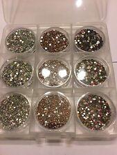 decoracion para uñas cristales varios tamaños y colores