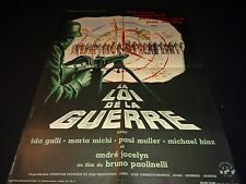 LA LOI DE LA GUERRE   !  magali noel mel ferrer  affiche cinema  1961