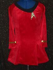 Custom-Made Red Five Star Trek Clothes Uniform Costume Dress