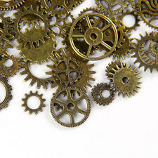 20x Silver Bronze Watch Parts Steampunk Cyberpunnk Cogs Gears DIY Jewelry Craft