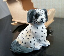 Vintage Carved Wood DOG 1:12 Dollhouse Miniature