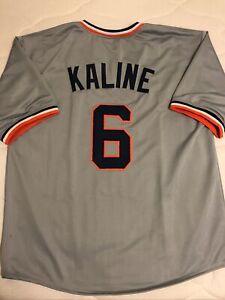 Al Kaline Custom Grey Detroit Tigers Baseball Jersey Mens Size Large Stitched